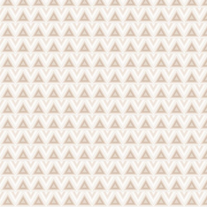 Beige Triangles on Cream Large