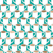 Many Mugs (teal)