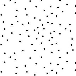 Small dots - monochrome, black and white, tiny dots, scattered, irregular polka dots || by sunny afternoon
