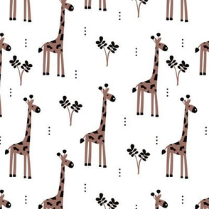 Quirky african zoo animals giraffe safari kids gender neutral