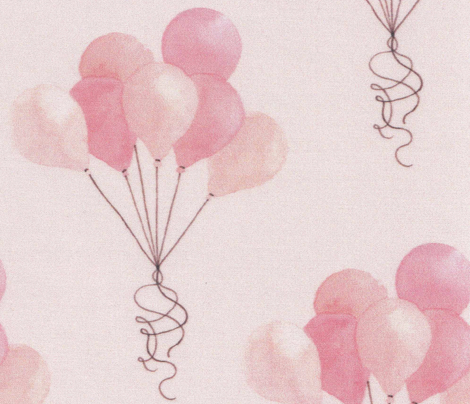 Balloons - on pink