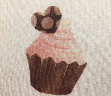 Chocolate cupcakes on pink