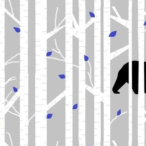 bear into the woods