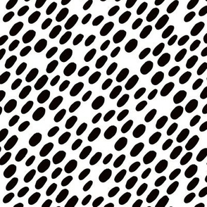 Animal dalmatian skin spots and dots scandinavian style design abstract circle black and white