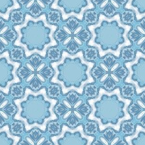 Light Blue Tulips Geometric