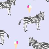 zebra and gelato