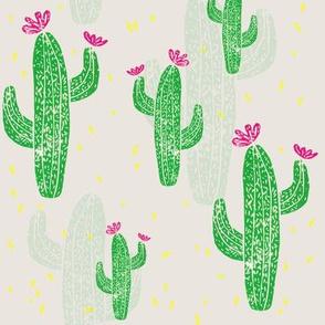Linocut Cacti #2 confetti
