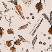 Garden sketchbook, brown tones