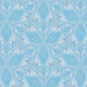 Pastel Blue Iris Geometric