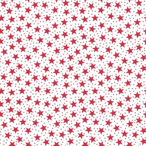 Stars and Dots - Red and White