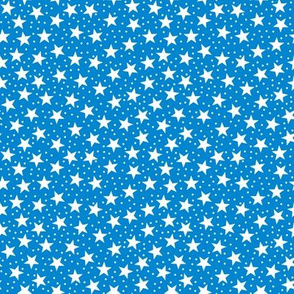 Stars and Dots - White and Blue