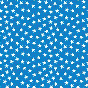 Stars and Dots - White Red and Blue