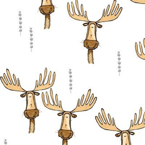 Many medium moose