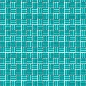 laundry basket weave - turquoise