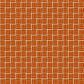 laundry basket weave in rust orange