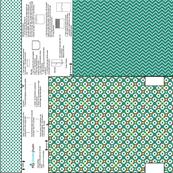 Cut and Sew Gift Bag in Teal Geometrics