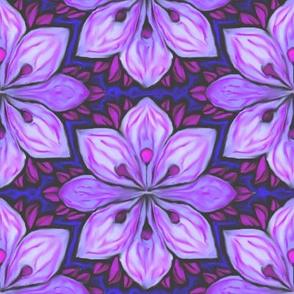 Impressionist Flower in Lavender