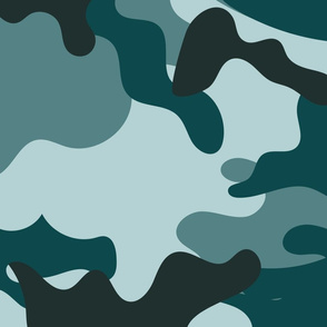 Turquoise Camouflage pattern