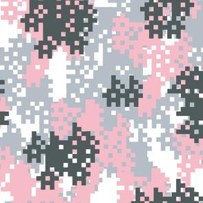 Pink Pixel Camouflage pattern