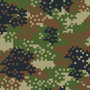 Pixel Woodland Camouflage pattern