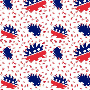 Vote Porcupine Libertarian Fabric