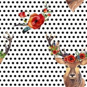 Deer In Love - Polka Dots