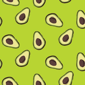 Avocado party in green