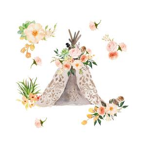 "Floral Aztec Teepee - 43"""