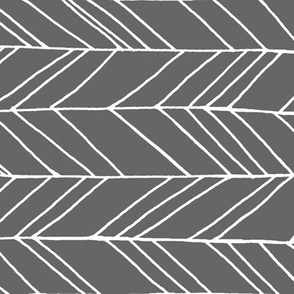 Featherland Gray/White (LARGE) rotated