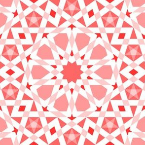decagon stars : coral red