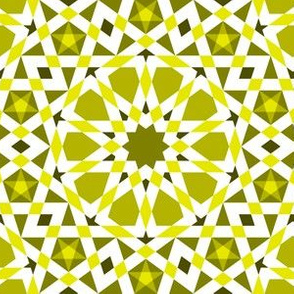 decagon stars : yellow olive