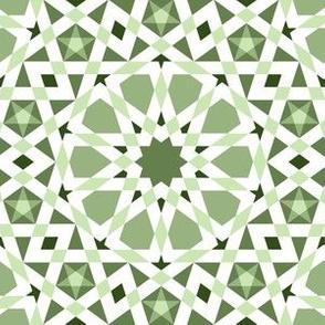 decagon stars : limestone khaki green