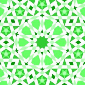 decagon stars : emerald green
