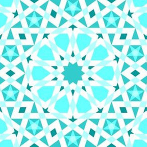 decagon stars : cyan teal