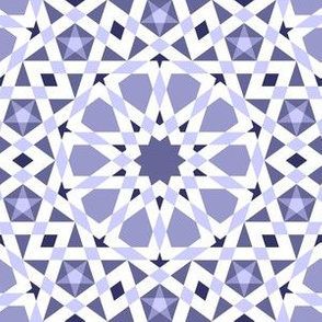 decagon stars : indigo blue