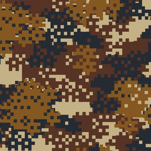 Pixel Brown Camouflage pattern