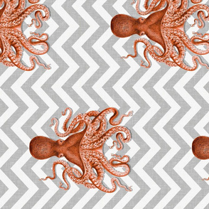 Coral Octopus Chevron, Railroad