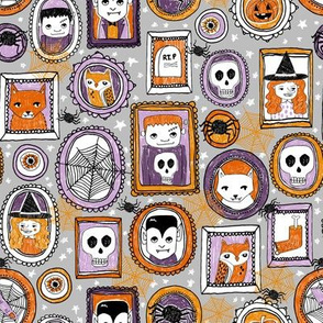 halloween portraits // halloween spider skull witch frankenstein vampire spiders cute halloween spooky fabric