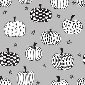 pumpkin // pumpkins grey white black kids halloween  halloween fabric for kids projects kids costumes kids halloween