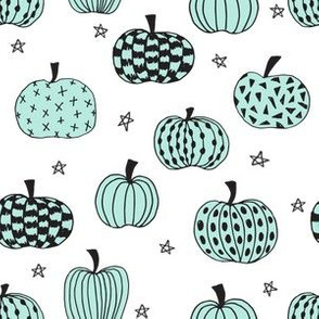 pumpkin  // pumpkins mint kids halloween fabric for october fall halloween fabric projects