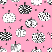 pumpkin // pink pumpkins halloween  girls pink halloween fabric for girls sweet pumpkins
