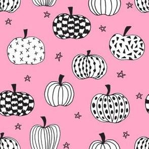 pumpkin // pink pumpkins halloween  girls pink halloween fabric for girls sweet pumpkins