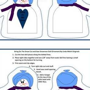 Bring On The Snow Cut and Sew Snowman