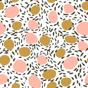abstract pebbles art dots kids stone terrazzo 80s retro floor tiles