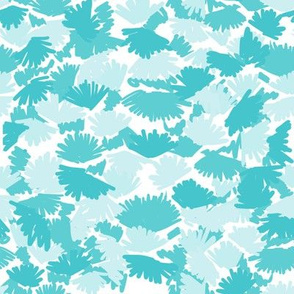 abstract turquoise aqua camo leaves leaf camouflage girls nursery sweet aqua print