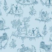 Walking Dead Toile - Blue
