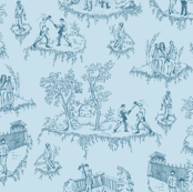 Zombie Toile - Blue