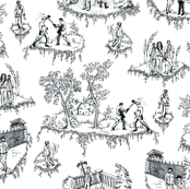 Walking Dead Toile - Black and White