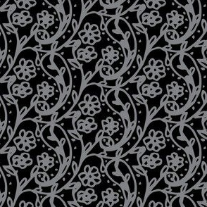 Sweet Paisley Black and Gray