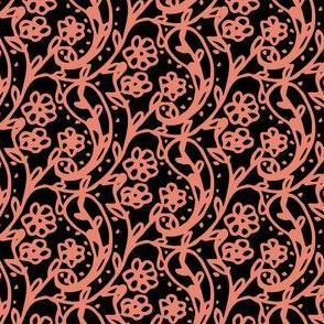 Sweet Paisley Black and Pink